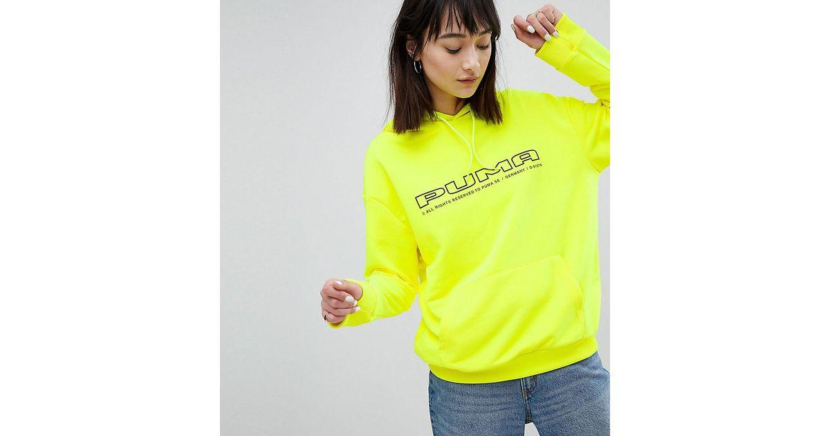 a60832a6e21d Lyst - Sweat-shirt avec logo exclusivit ASOS PUMA en coloris Jaune