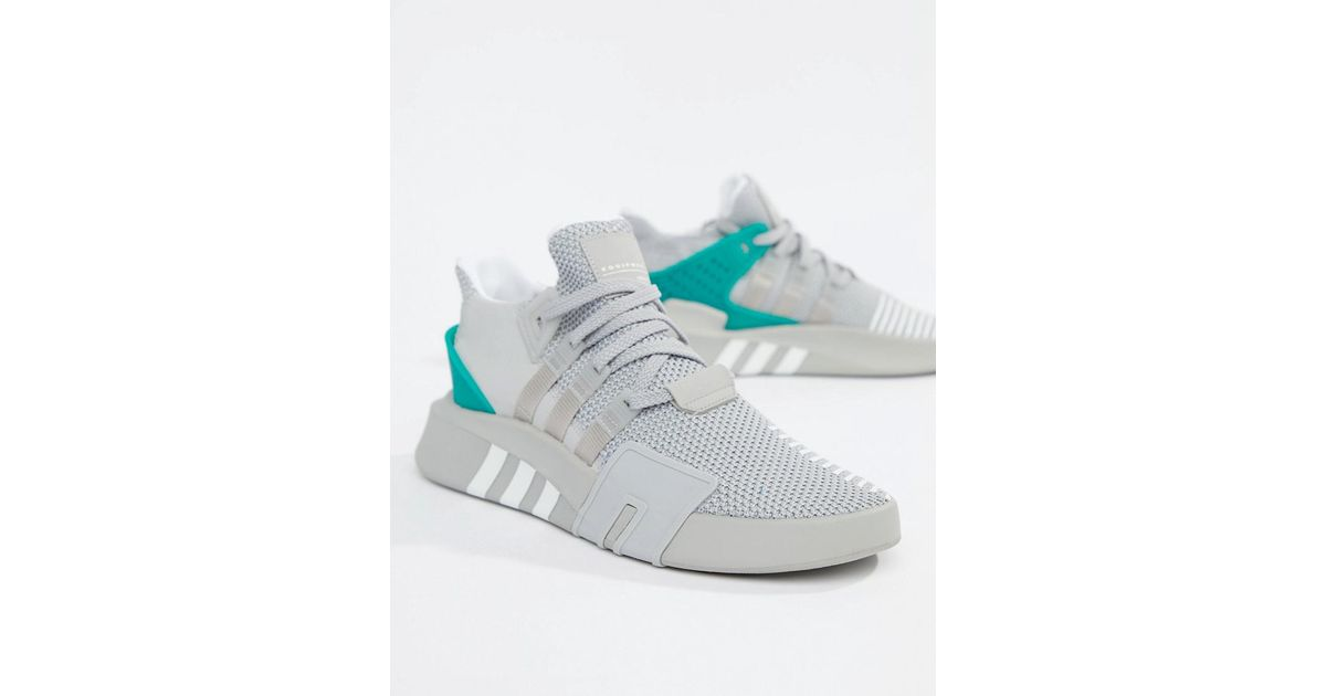 differently 07de0 1f9ae Lyst - adidas Originals Eqt Bask Adv Sneakers In Gray B37514 in Gray for Men