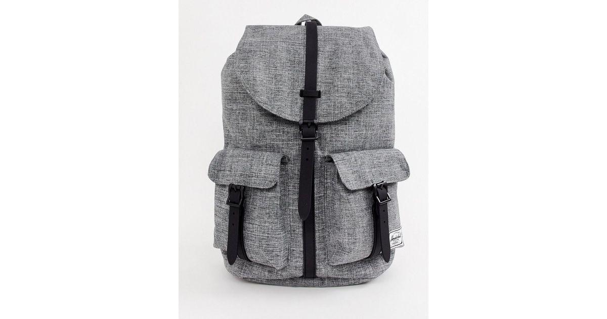 1ddba638079d Herschel Supply Co. Dawson 20.5l Backpack In Raven Crosshatch in Gray for  Men - Lyst