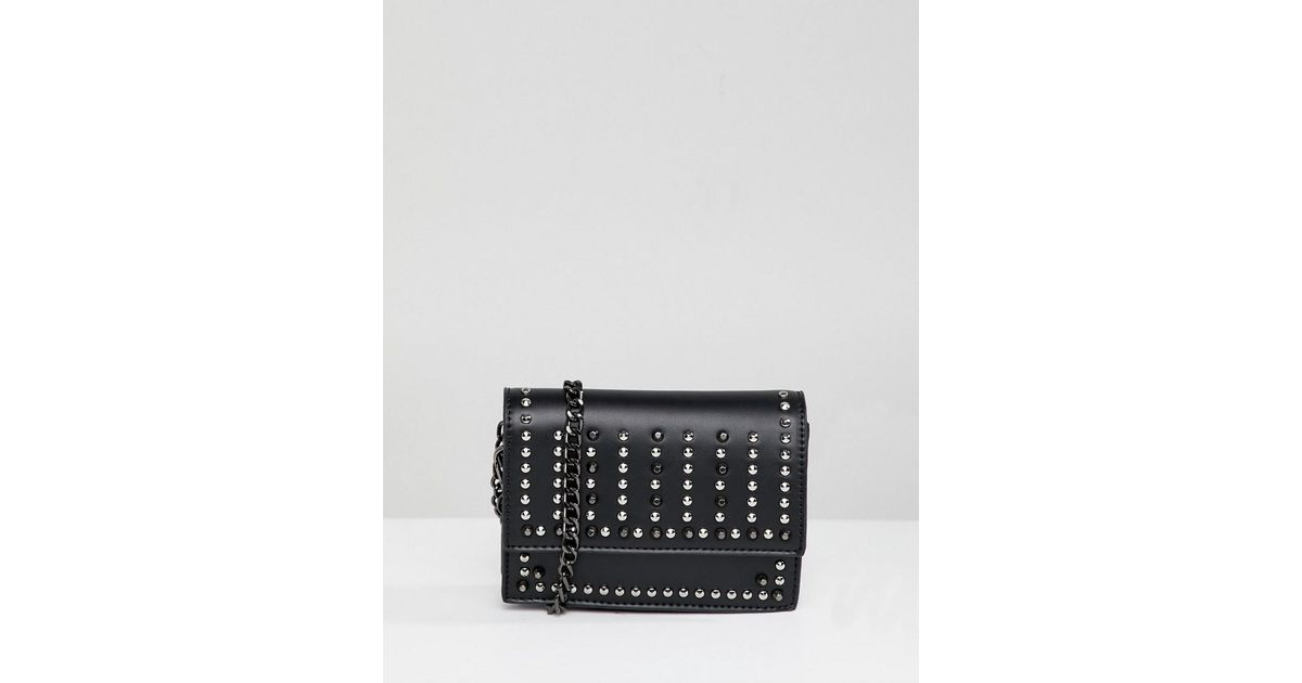 Park Lane Extra Mini Studded Phone Holder Across Body Bag in Black - Lyst e3adbada59060