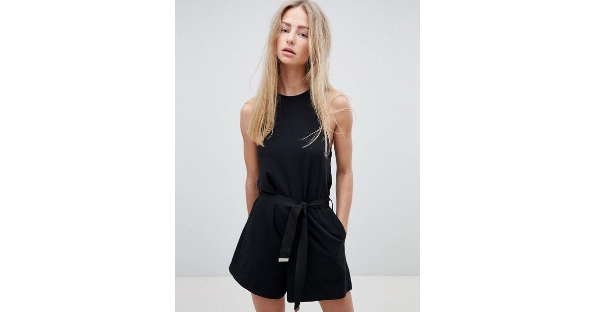 Playsuit with Exposed Zip - Black Dr. Denim Where To Buy Fast Delivery For Sale Shop Cheap Online Shop For Cheap Online gmDVtfW1Hc