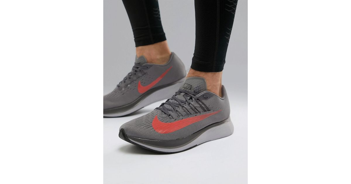 save off bacc6 47ef7 Nike Zoom Fly Trainers In Grey 880848-004 in Black for Men -