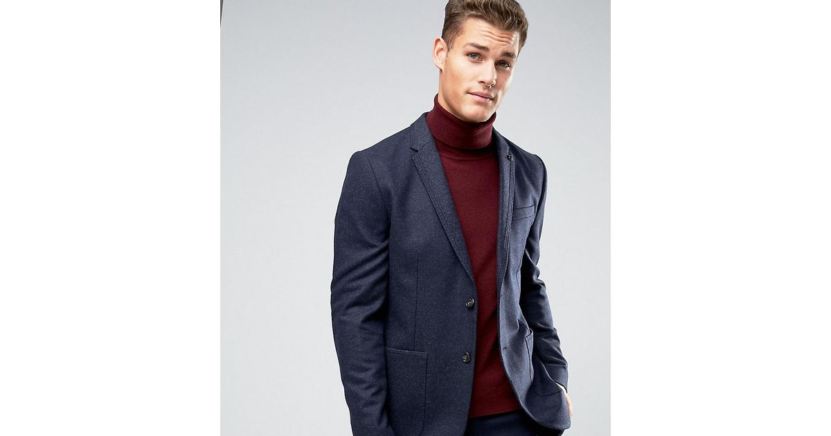 7ccbd2f64f47 Ted Baker Tall Slim Blazer With Fleck in Blue for Men - Lyst