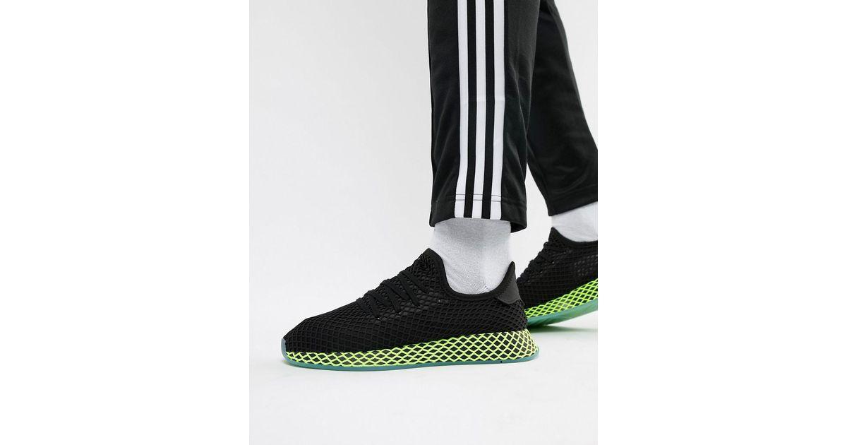 timeless design b11fc 6b864 Lyst - adidas Originals Deerupt Trainers In Black B41755 in Black for Men