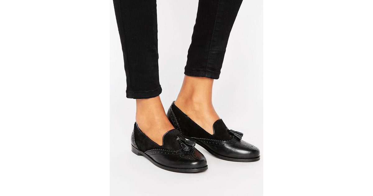 Tassel Loafers - Blk mix Park Lane