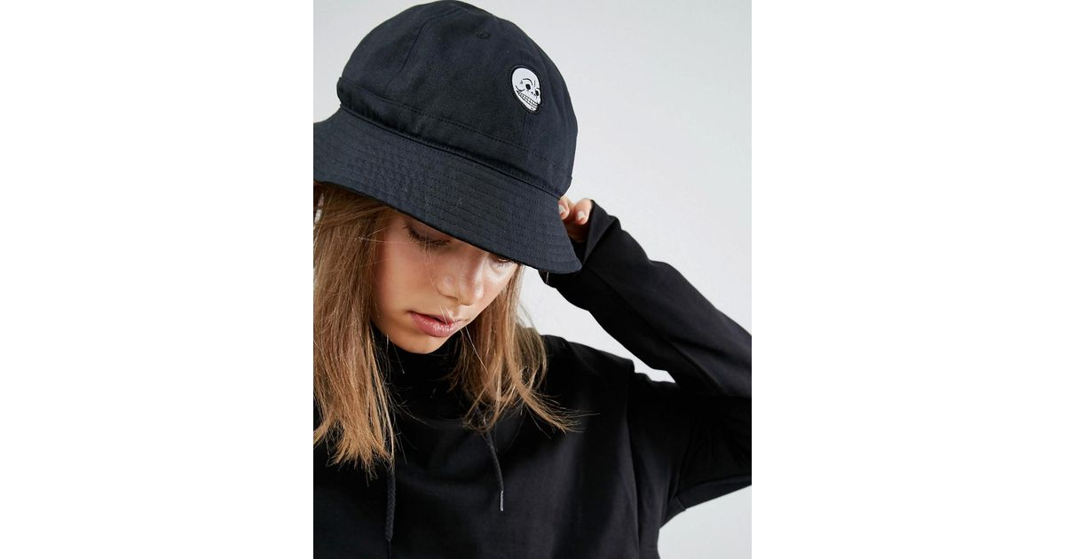 Lyst - Cheap Monday Bucket Hat In Black Cotton Canvas in Black 0b9c0de9350