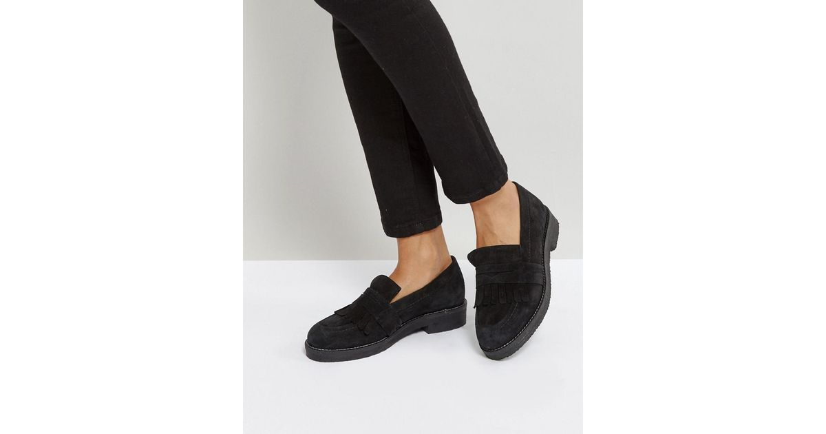 Farrow Suede Flat Shoes - Black Office UtNrGg