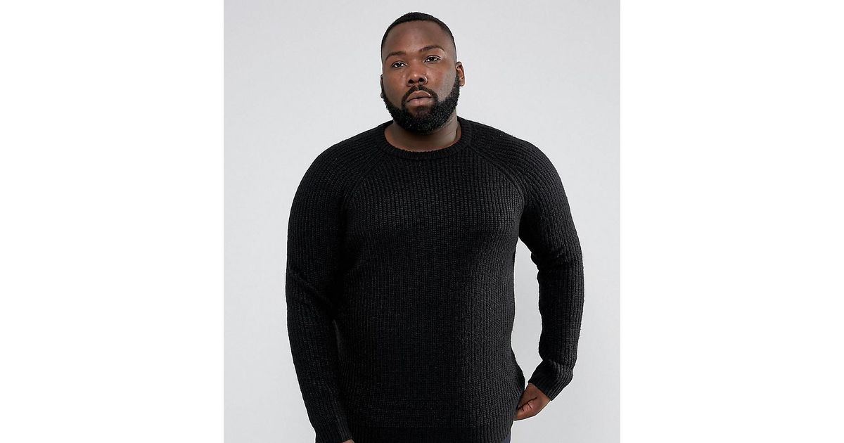PLUS Chunky Ribbed Crew Neck Jumper - Red D-Struct With Mastercard Cheap Price Best Seller Cheap Price Cost Cheap Online Cheap Sale Limited Edition ddWmspqYM