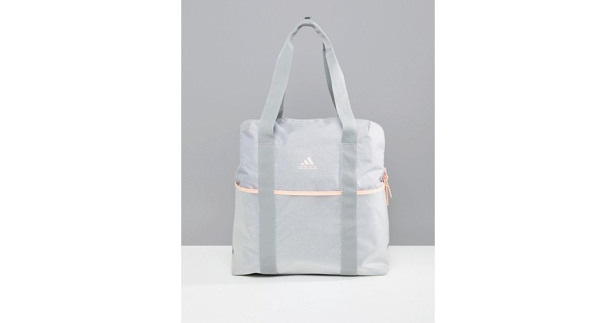 c9cb42ccd3 Lyst - adidas Training Tote Bag In Grey in Gray