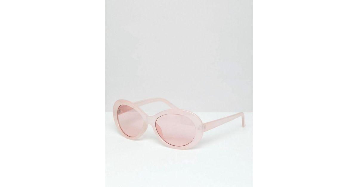 eb80f142c2 Gafas de sol con montura ovalada en rosa y lentes rosas de ASOS de hombre de  color Rosa - Lyst