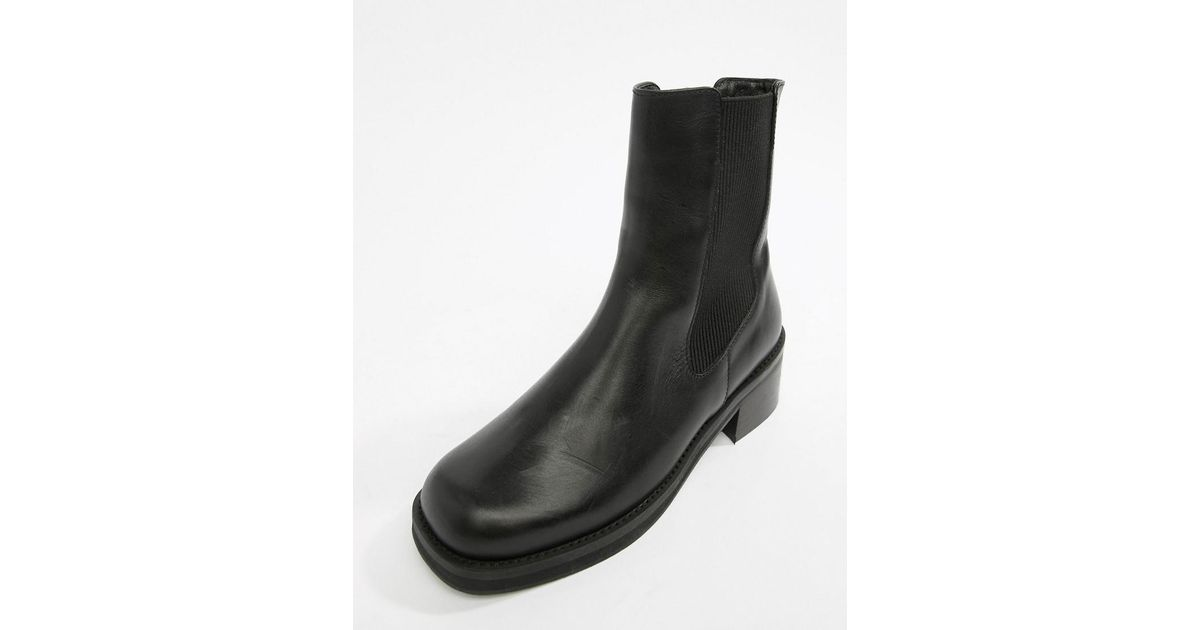 8c11112e066d Lyst - E8 E8 By Miista Black Leather Chunky Sole Chelsea Boot in Black
