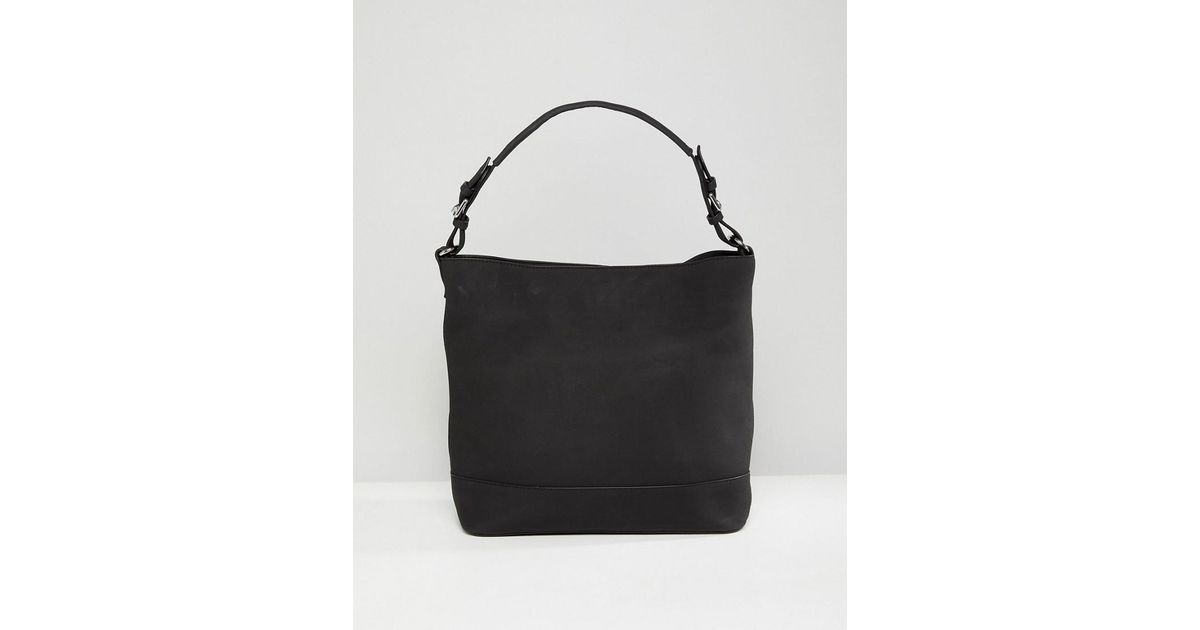 b59fe3090c86 Pieces - Black Structured Shoulder Bag - Lyst