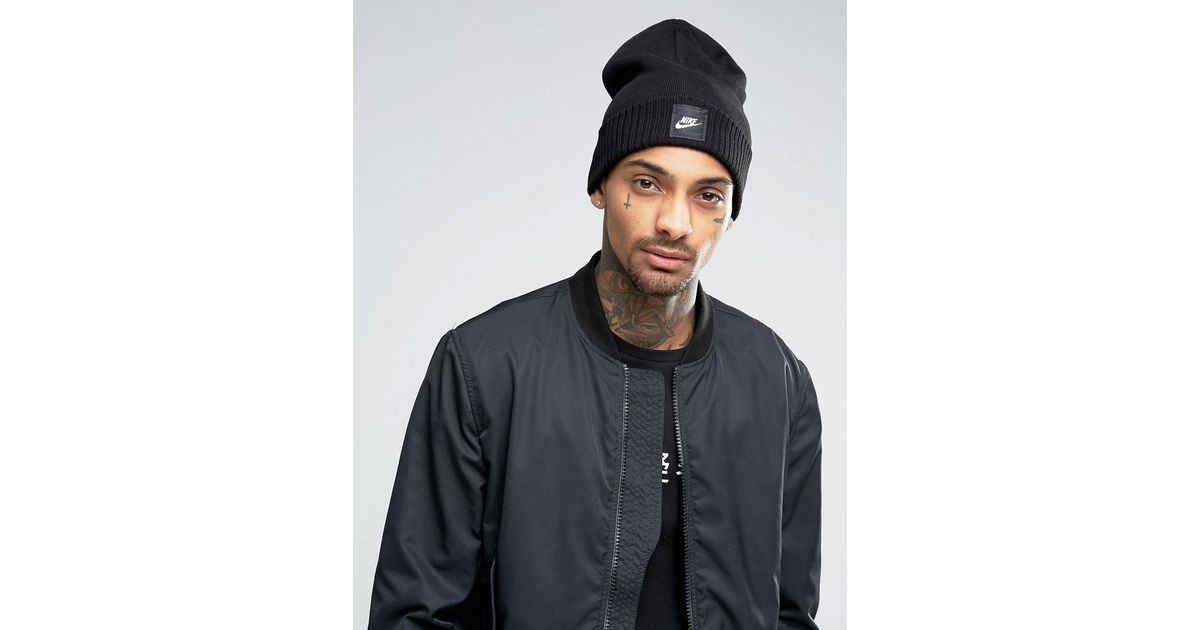 Nike Futura Beanie In Black 803732-010 in Black for Men - Lyst 03219beb8c