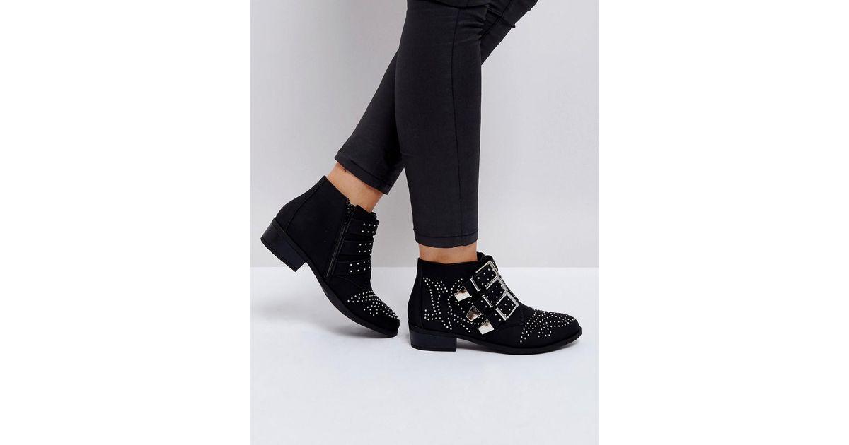 Stud Lyst Buckle Collection Black in Boot Truffle Western qATxw8nU