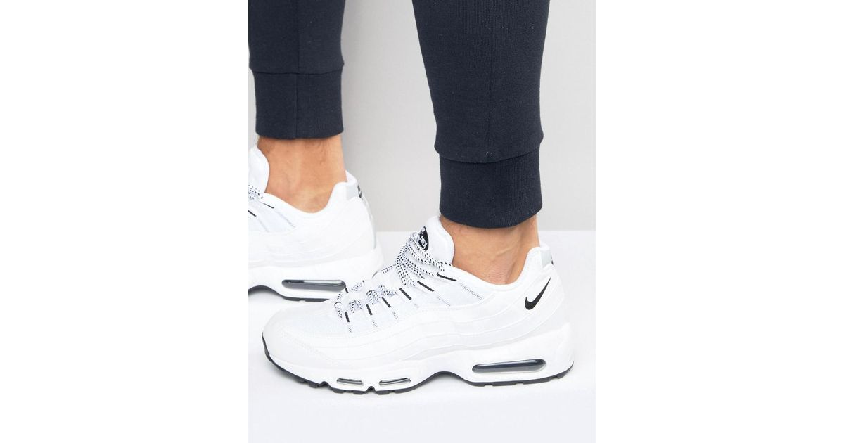 finest selection a799a 8ab4f Nike Air Max 95 Trainers In White 609048-109 in White for Men - Lyst