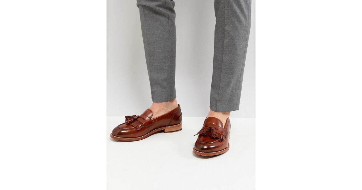286a87c8263 Grenson Mackenzie Tassel Loafers In Tan in Brown for Men - Lyst