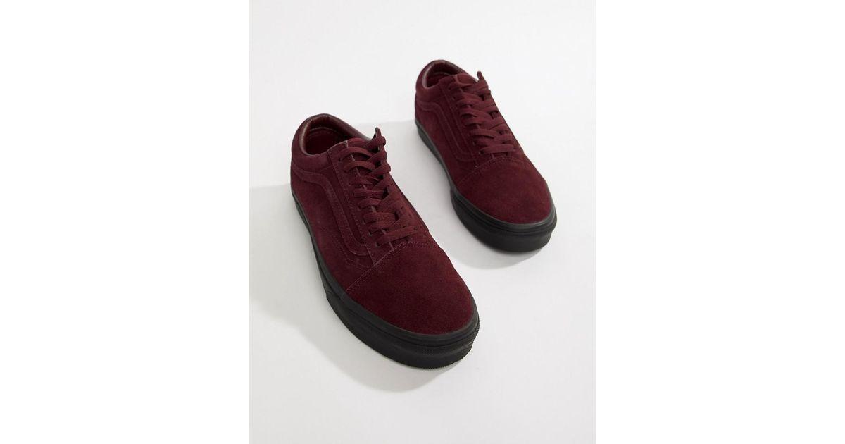28f4a81a808293 Vans Old Skool Suede Sneakers In Burgundy Vn0a38g1ua41 in Purple for Men -  Lyst