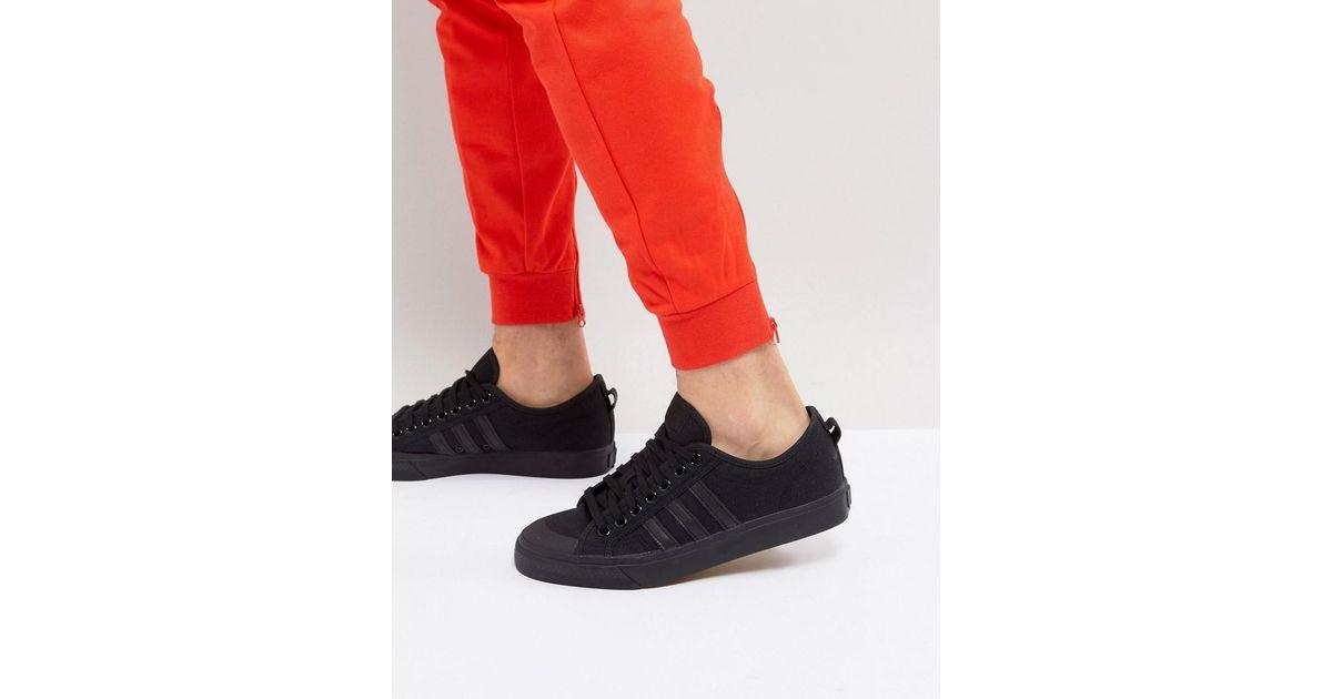 e0e4a2315b93 Lyst - adidas Originals Adidas Originals Nizza Lo Trainers In Black Bz0495  in Black for Men