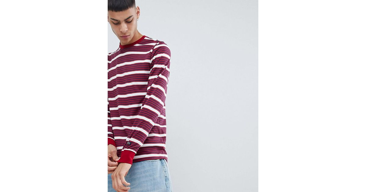 3bf5ead74a Nike Striped Long Sleeve T-shirt In Red 938020-618 in Red for Men - Lyst