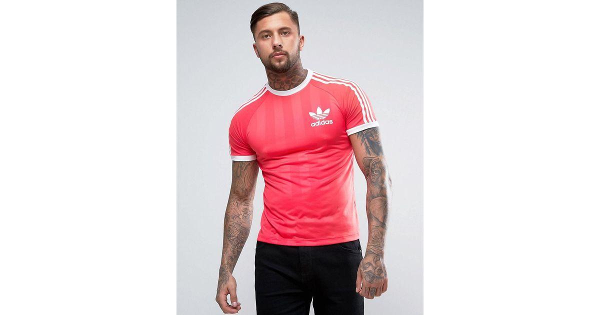 adidas california t shirt pink asos
