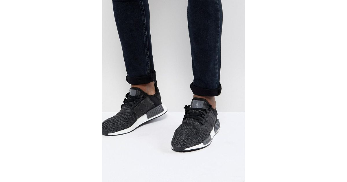 110281c1ef329 Lyst - adidas Originals Nmd R1 Trainers In Black B79758 in Black for Men