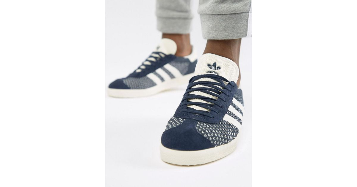 wholesale dealer a2efd 019a3 Lyst - adidas Originals Gazelle Unisex Trainers in Blue for