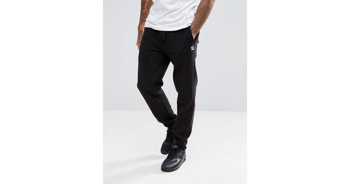 26ce76da6047b Lyst - Fila Skinny Joggers With Small Logo in Black for Men