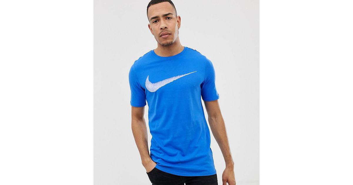 9763beb9792b Nike T-shirt With Hangtag Swoosh In Blue 707456-403 in Blue for Men - Lyst