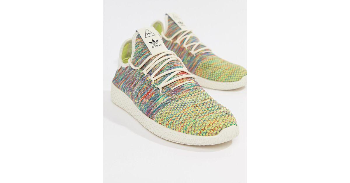 44e148553d742 Lyst - adidas Originals Pharrell Williams Tennis Hu Sneakers In Multi Cq2631  in White