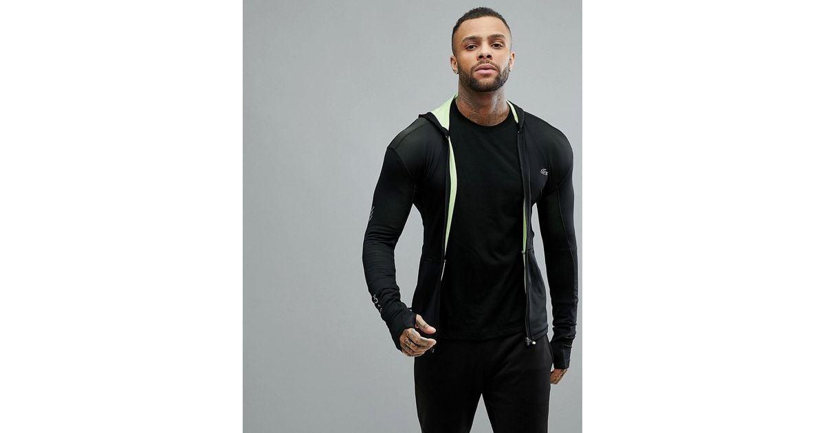 596af4943714 Lacoste Sport Full Zip Through Sweat In Black in Black for Men - Lyst