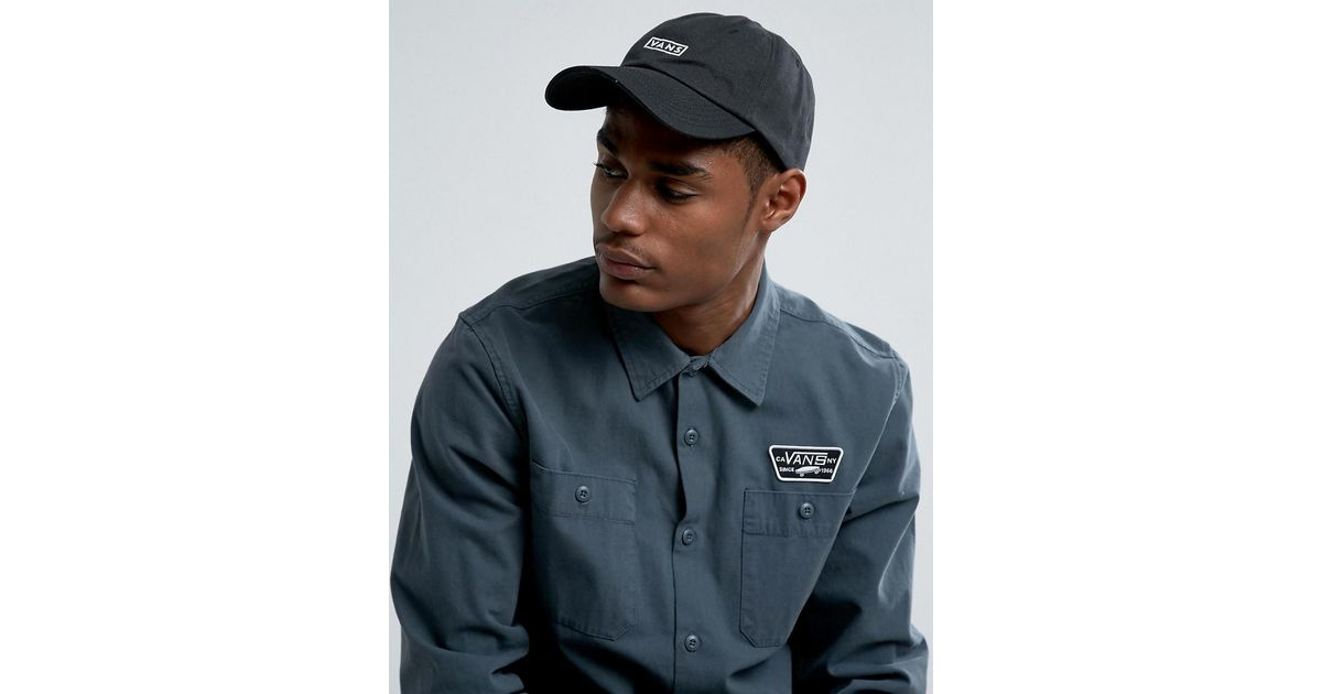 Bill Jockey Cap In Black VA36IUBLK - Black Vans iBNkD