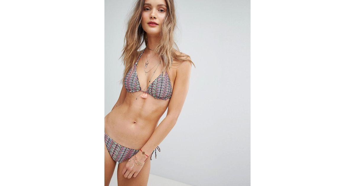 04879de9e9b80 Accessorize Zanzibar Reversible Triangle Bikini Top - Lyst
