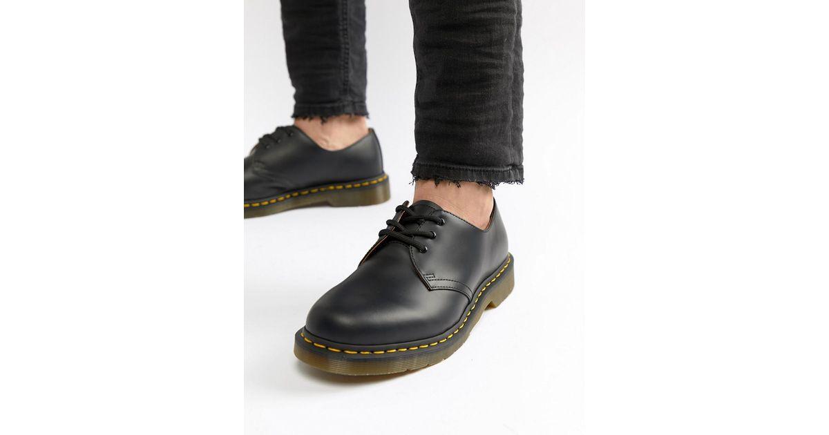 160a4dc2c41 Dr. Martens Original 3-eye Shoes In Black 11838002 in Black for Men - Lyst
