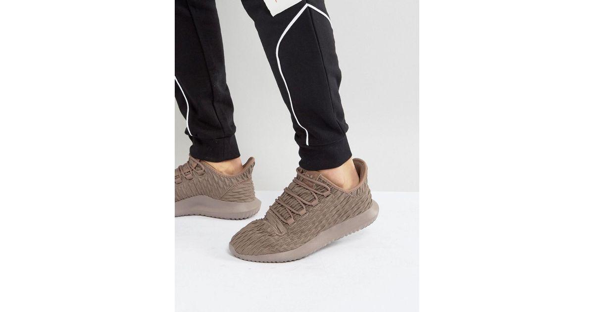 8a031c5c510da7 Lyst - adidas Originals Tubular Shadow Sneakers In Brown Bb8974 in Brown  for Men