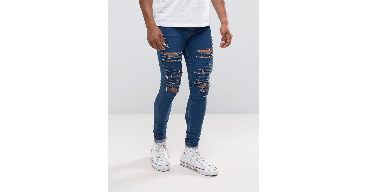 Ripped Skinny Jeans - Mid wash Criminal Damage GknJm0