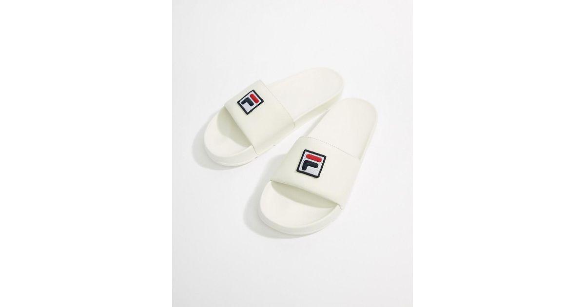 f76ab20c7cbb Lyst - Fila Drifter Box Logo Sliders In White in White for Men