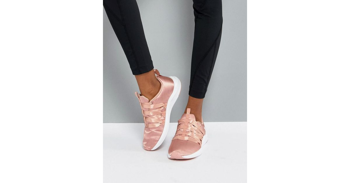 PUMA Prowl Alt Satin Training Trainers In Dusky Pink