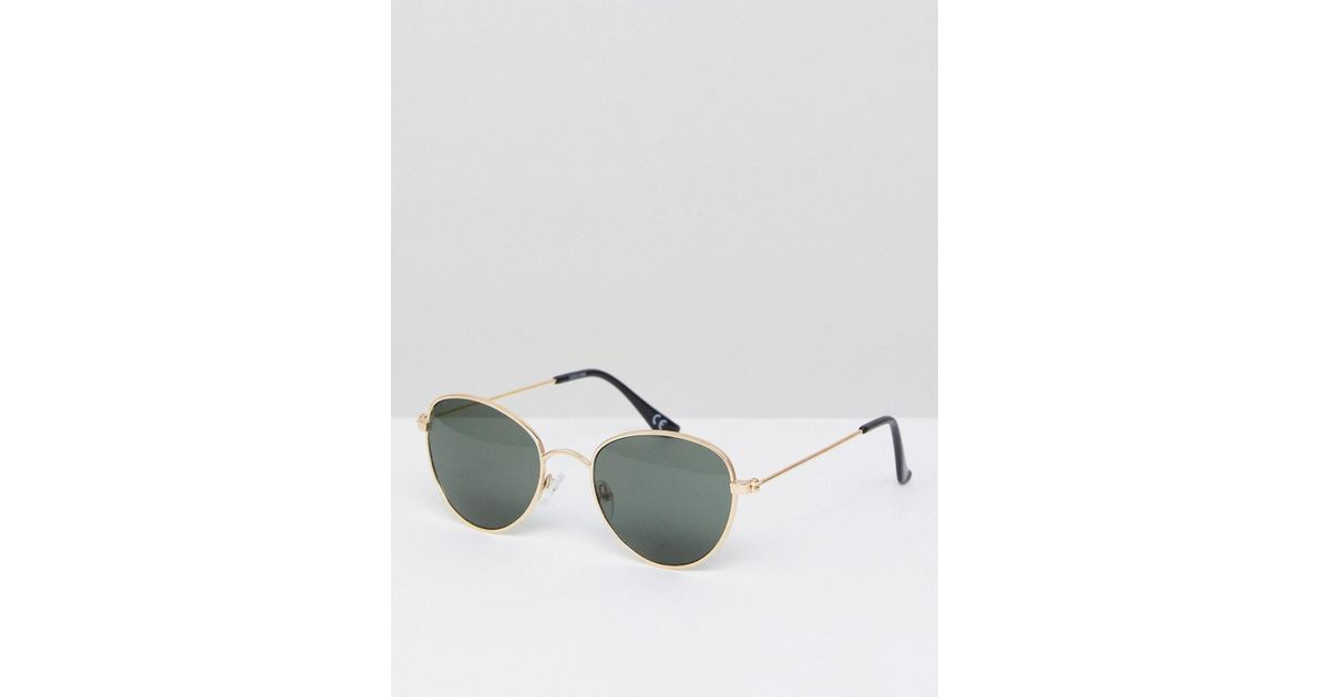 d53c9f73689c ASOS Asos Round Glasses In Gold Metal With Smoke Lens in Metallic for Men -  Lyst