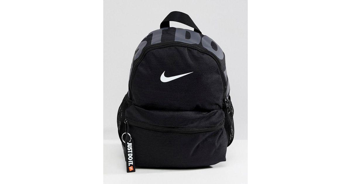4918059b39 Nike Black Mini Backpack in Black - Lyst