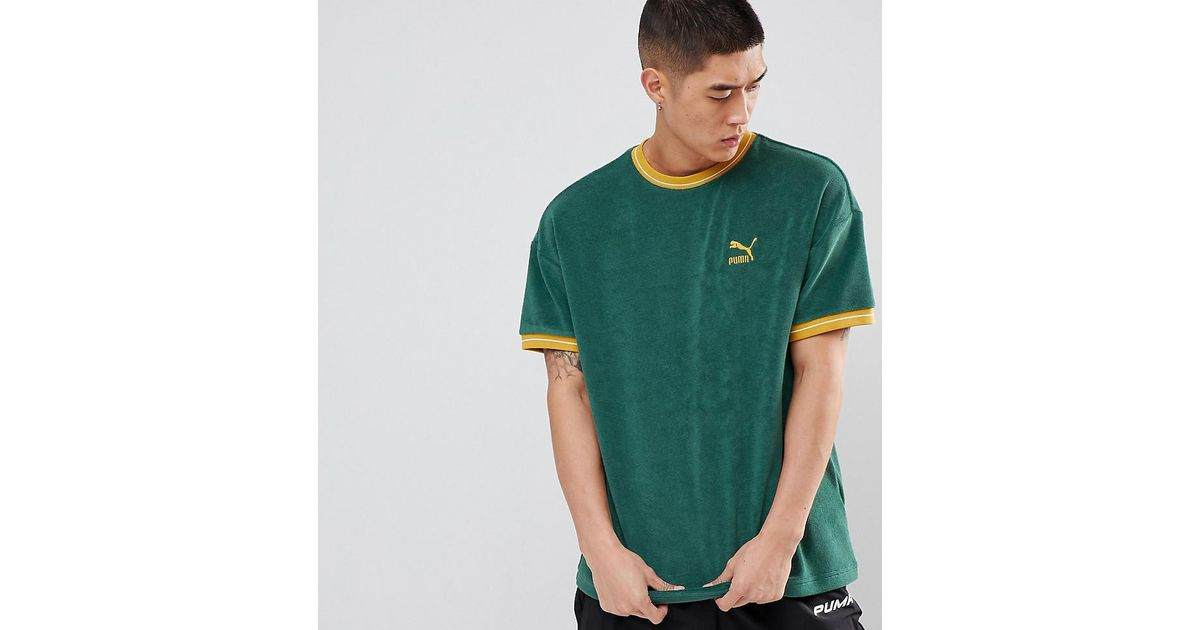 15607776783 PUMA Towel T-shirt in Green for Men - Lyst