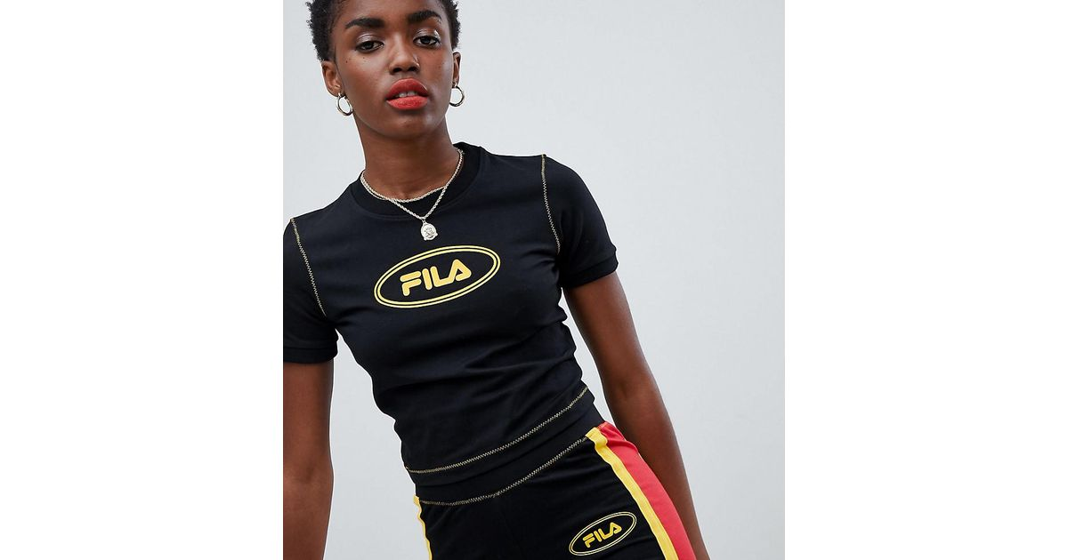 Fila Crop T-Shirt With Contrast Stitching With Paypal Low Price BKfBO
