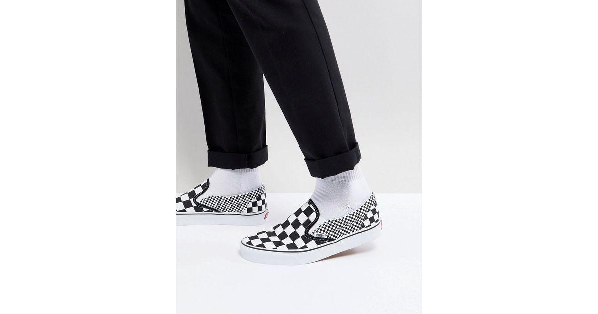 ea74ba0ac9f3 Vans Classic Checkerboard Slip-ons In Black Va38f7q9b in Black for Men -  Lyst