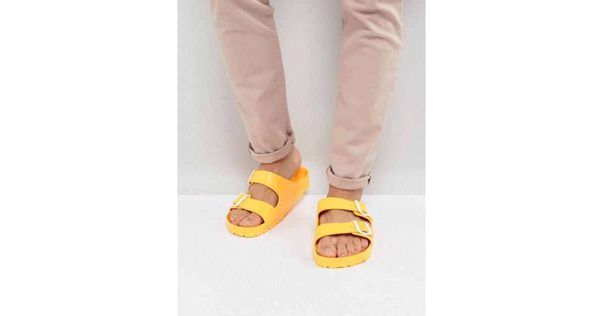 6b6383ee2f3 Lyst - Birkenstock Arizona Eva Sandals in Yellow for Men