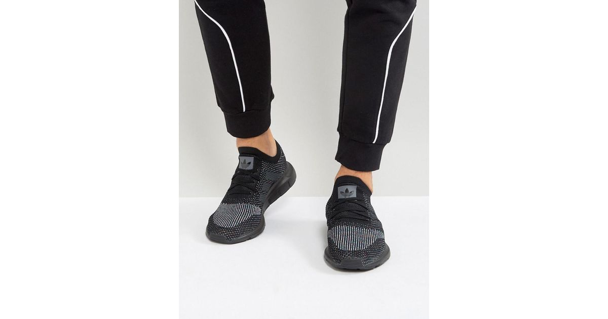 162e97aa7fa3 Lyst - adidas Originals Swift Run Primeknit Sneakers In Black Cg4127 in  Black for Men