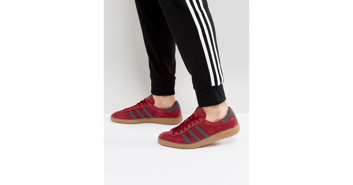 info for a3b52 811e9 adidas Originals Bermuda Suede Sneakers In Red By9653 in Red for Men - Lyst