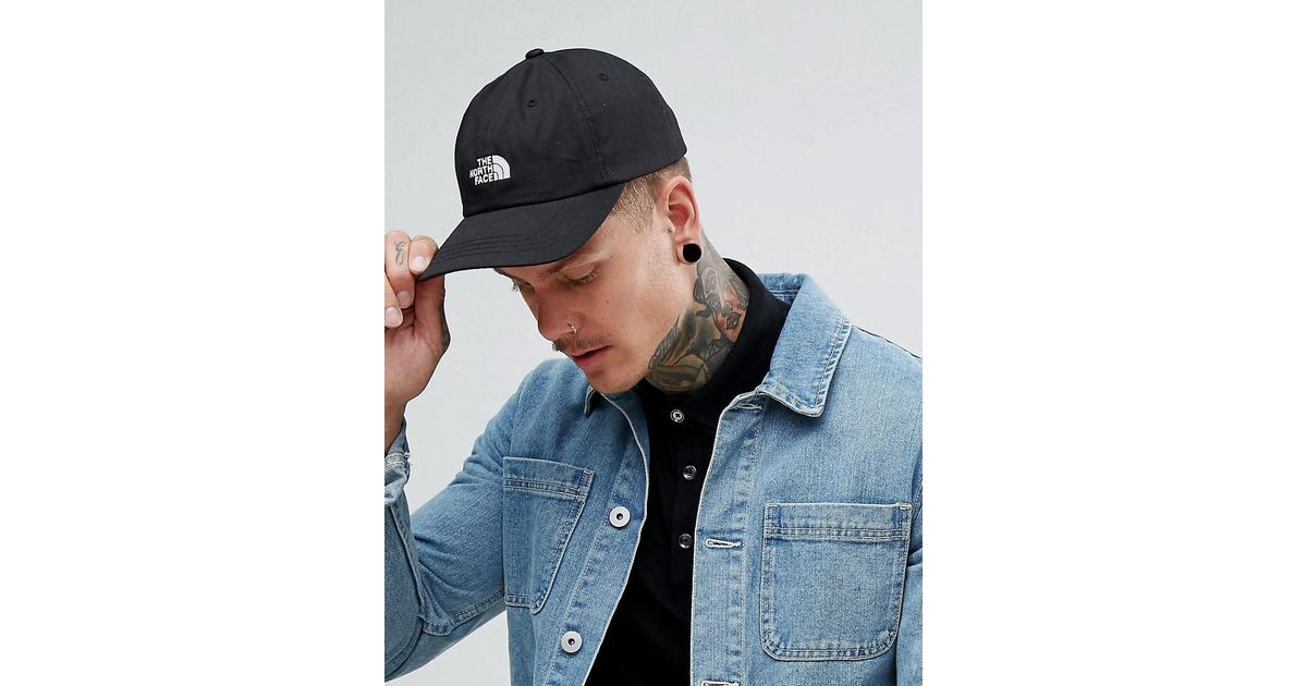 b5a284e8ce9 Lyst - The North Face The Norm Baseball Cap Logo In Tnf Black in Black for  Men