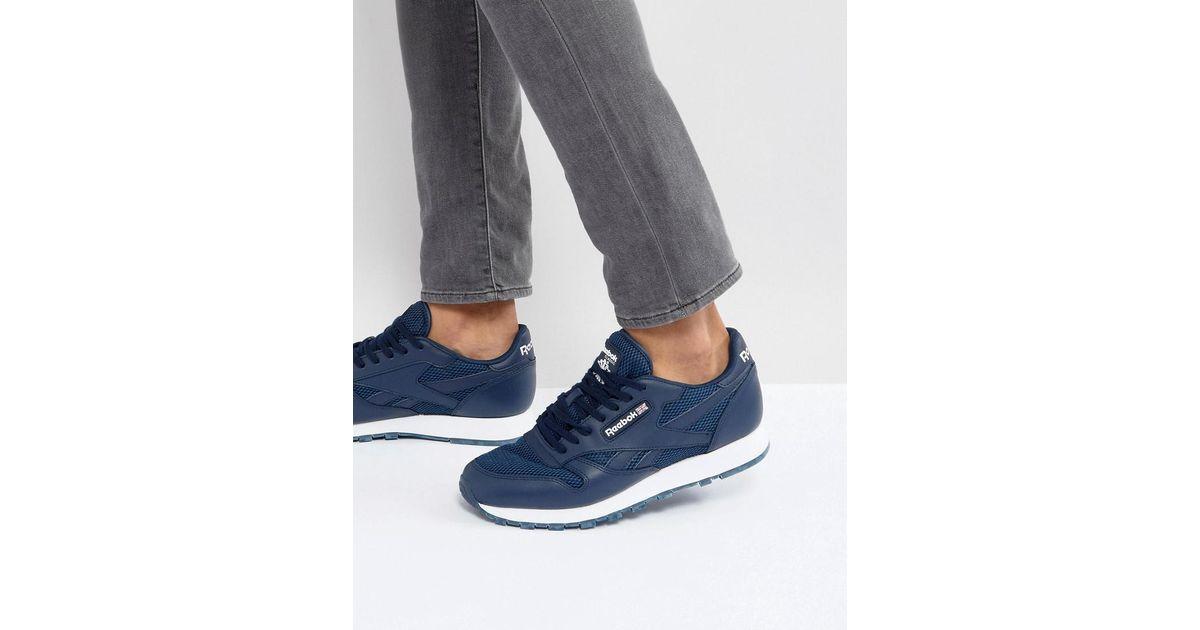 794e1a0de74 Reebok Classic Leather Nm Sneakers in Blue for Men - Lyst