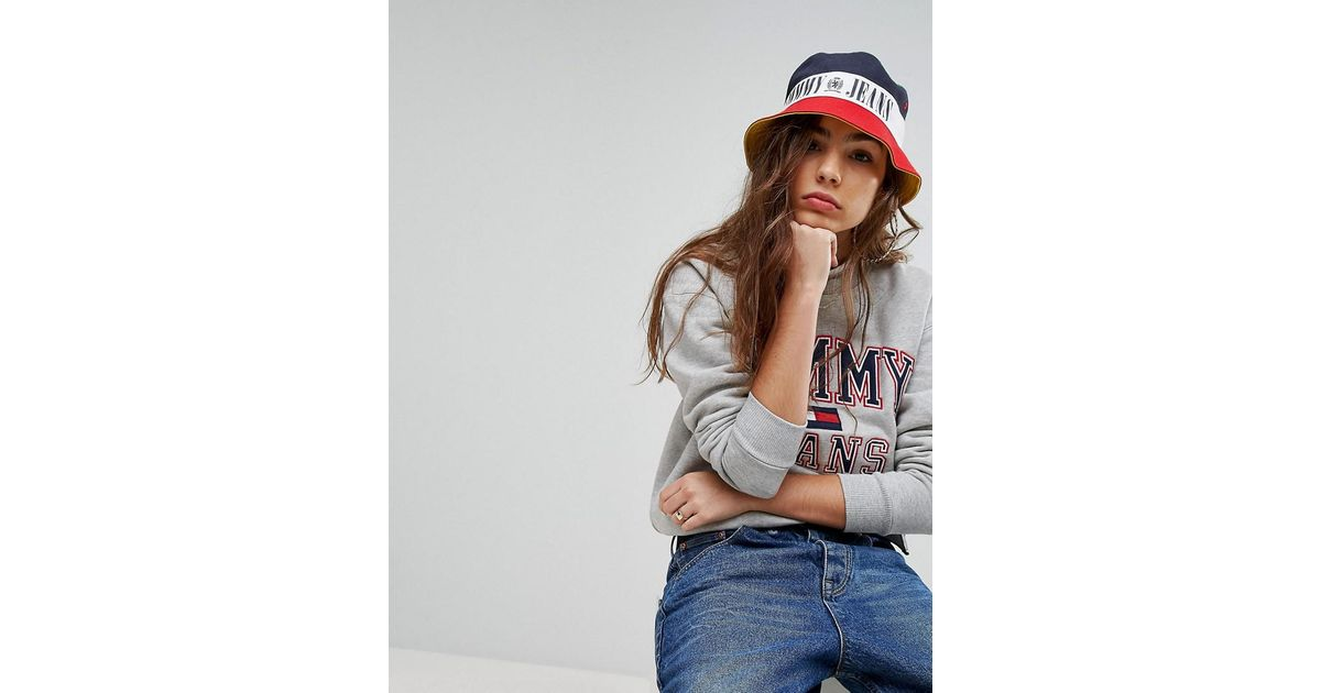 02c4021a6580f Tommy Hilfiger Tommy Jean 90s Capsule Bucket Hat - Lyst