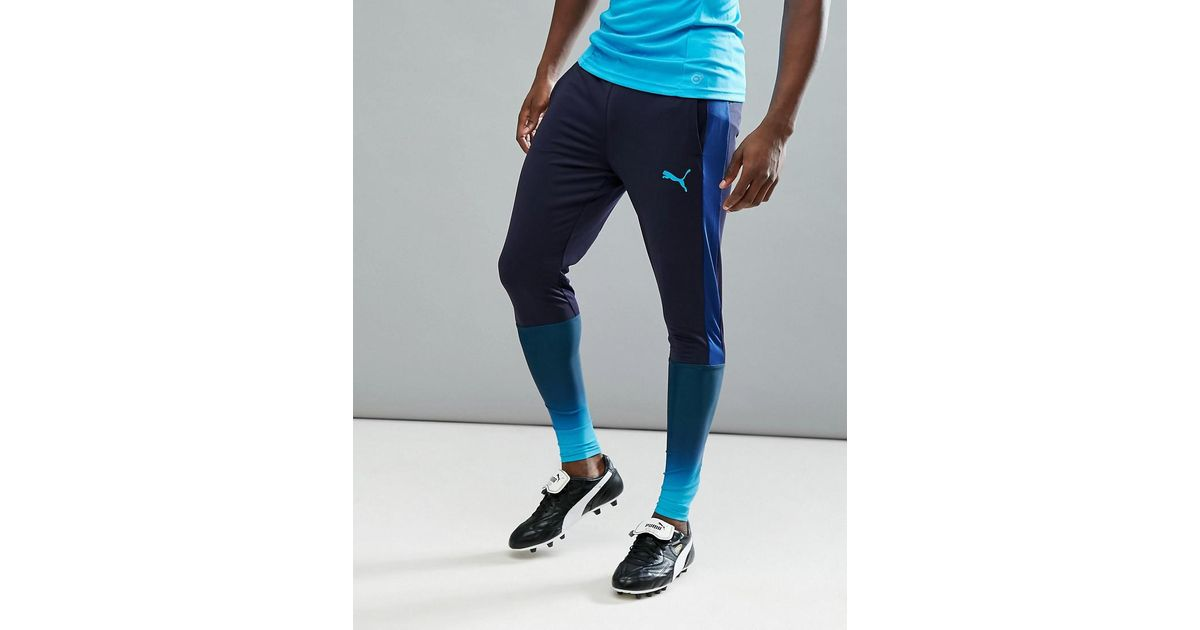 d16695ca9c68 Lyst - PUMA Football Evotrg Training Tech Trousers In Navy 65536150 in Blue  for Men
