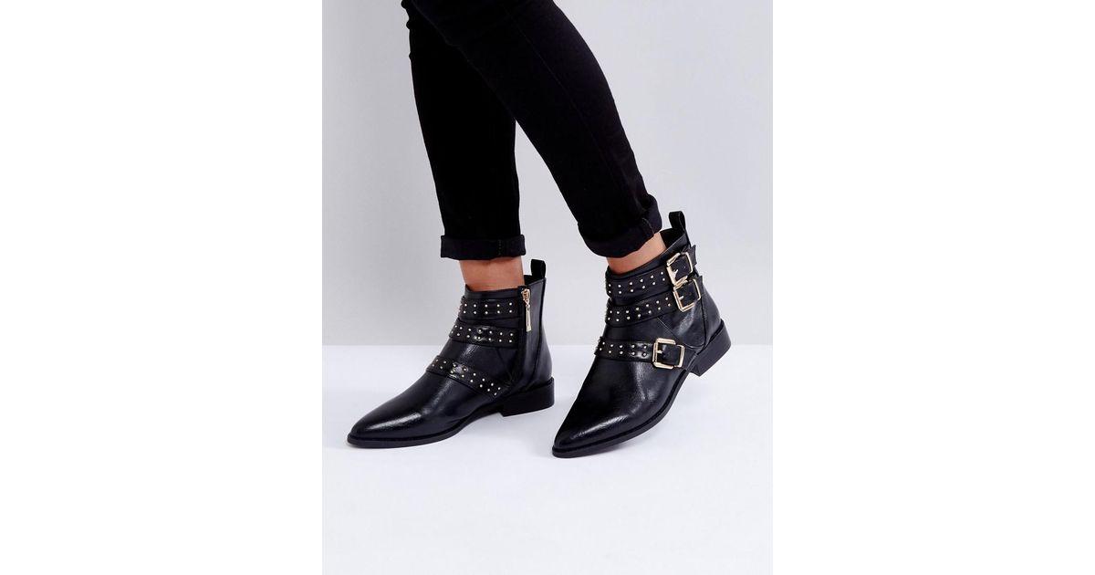 Miss KG Flat Stud Buckle Boots 7lPWG